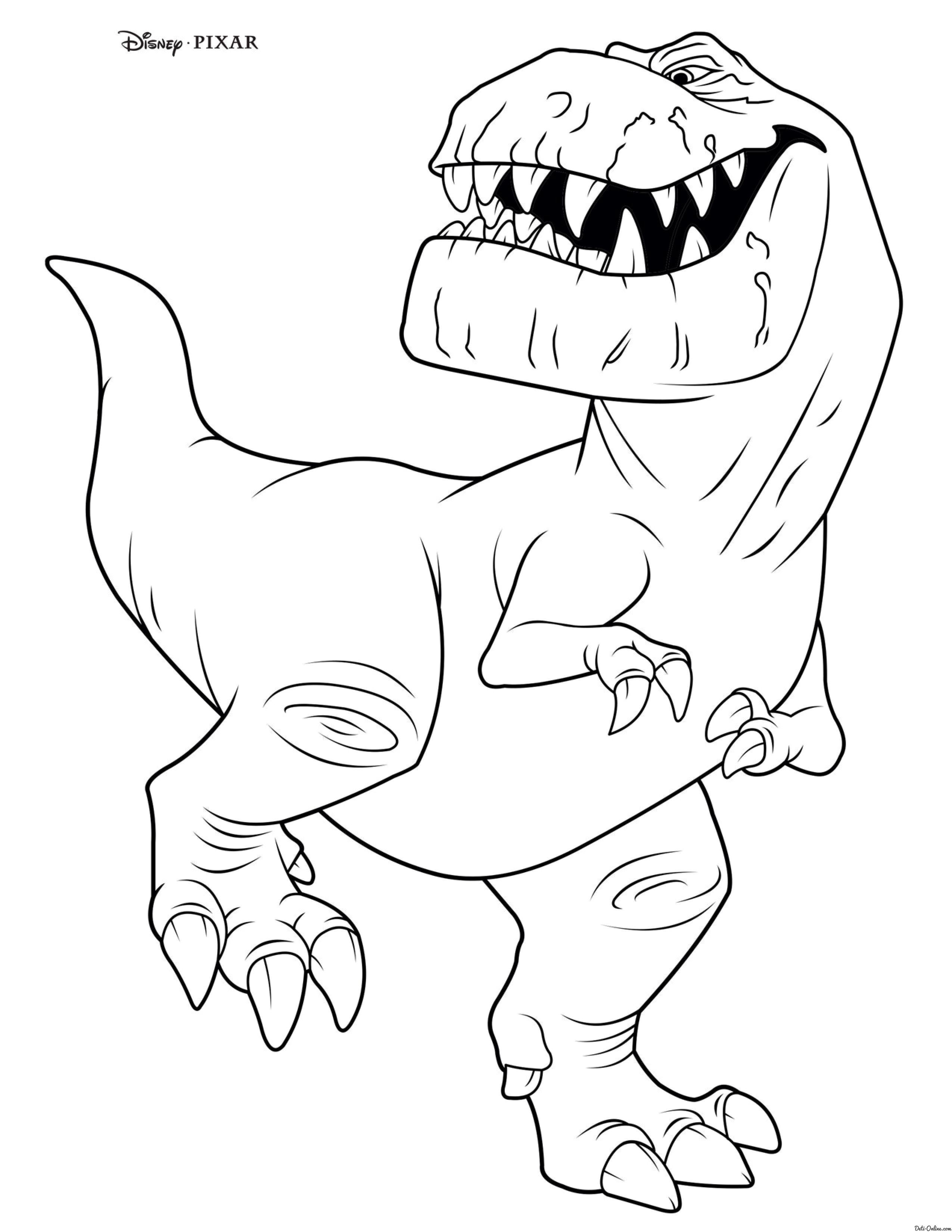 Раскраска Динозавр Бутч | Раскраски Хороший динозавр ...