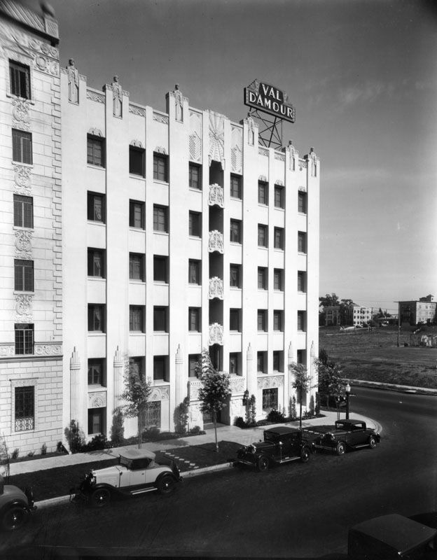 Art Deco Los Angeles Val D Amour Apartment Building S Oxford Avenue Circa 1930s Designed By C W 1928