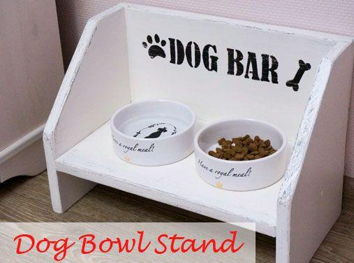 Handmade Dog Bowl Stand Country