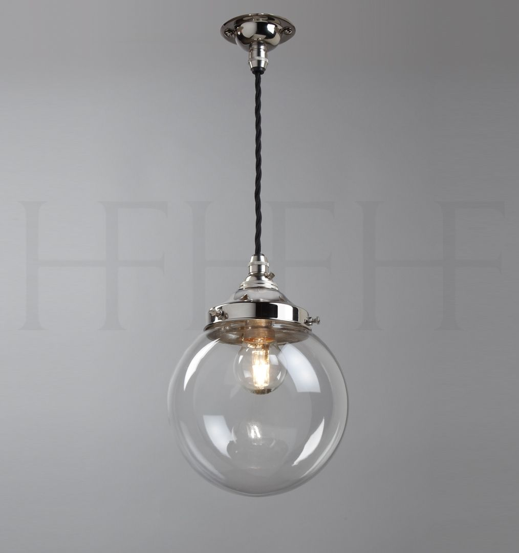Hector mini globe pendant clear glass lighting fixtures