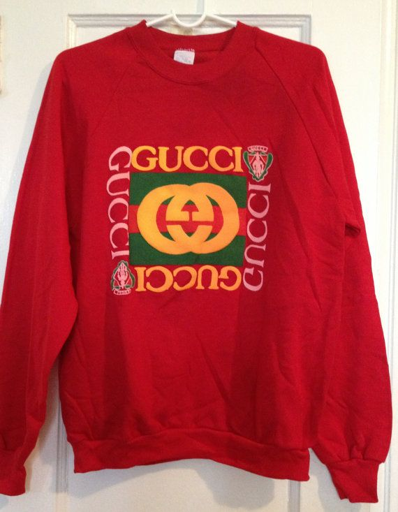 65a2c0a36a5 Vintage 80 s GUCCI Red Sweatshirt - Size Large!  gucci  vintage  rare