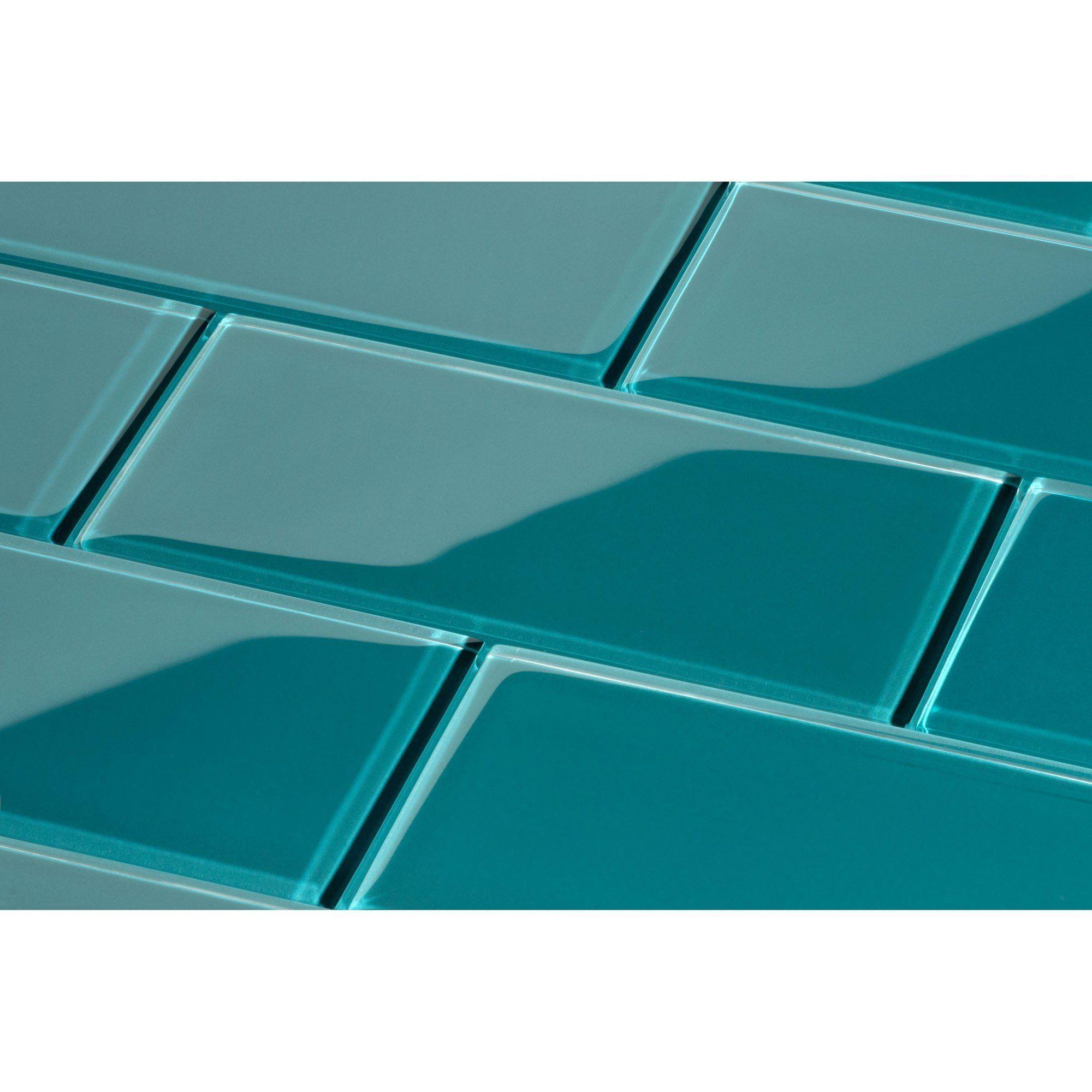- Dark Teal Subway Tile Dark Green 3 X 6 Glass Tile Glass Subway