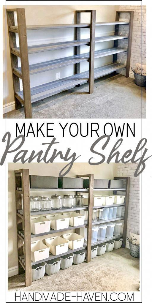Pin By Hannah Bowers On Home Ideas In 2020 Diy Pantry Shelves