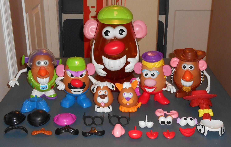 Potato Head Lot 80 Parts Pieces Toy Story Buzz