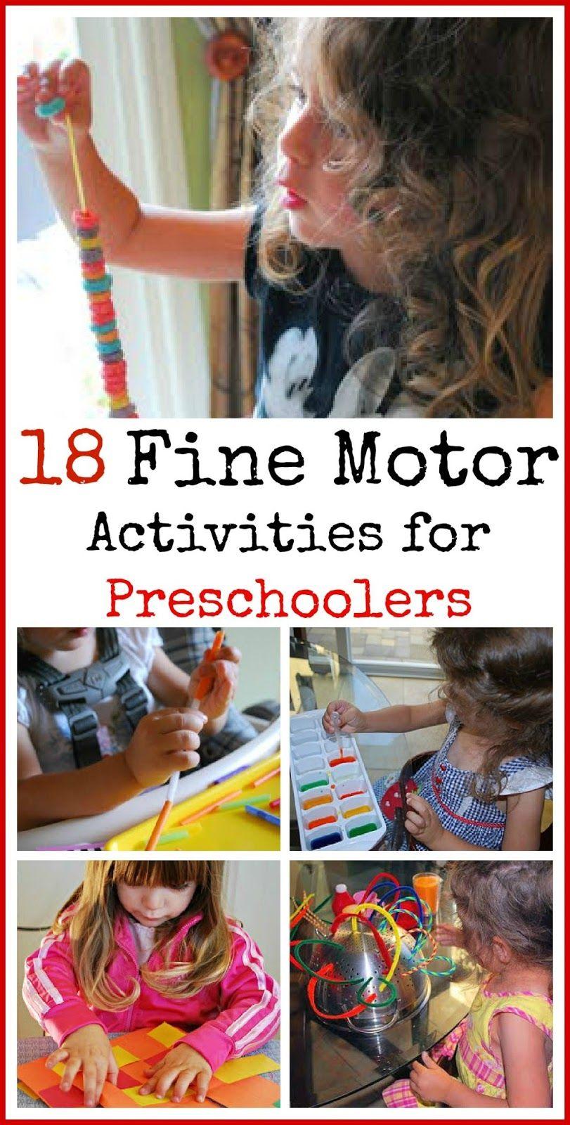 18 Fine Motor Activities For Preschoolers Motor