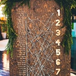 This new trend is creative and fun, and a good way to jazz up your wedding decor! (Photo via 100 Layer Cake)