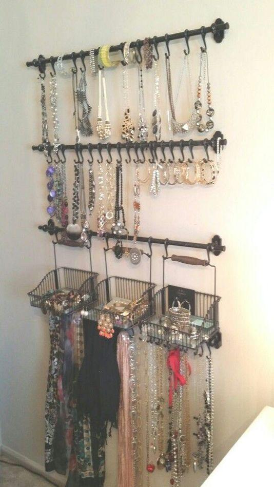 jewelry organizer wall closet ideas diy