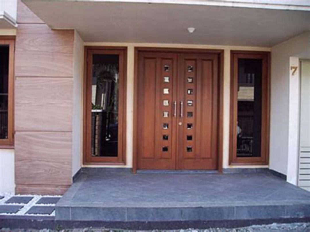 20 Minimalist And Beautiful Front Door Design Ideas For Your House Home Door Design Door Design House Design Gambar kusen rumah minimalis
