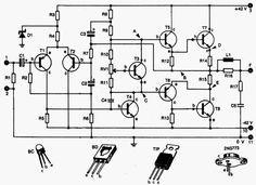 Circuito De Amplificador Audio De 100 Watts Rms Amplificador