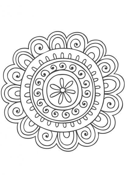 Mandala Nature 8 Mandala Coloriage Mandala Coloriage Et Mandala