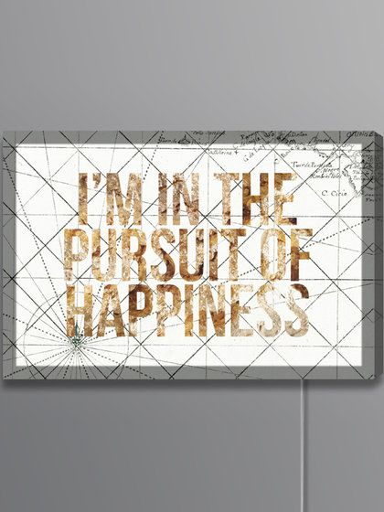Pursuit of Happiness Lightbox (Canvas)