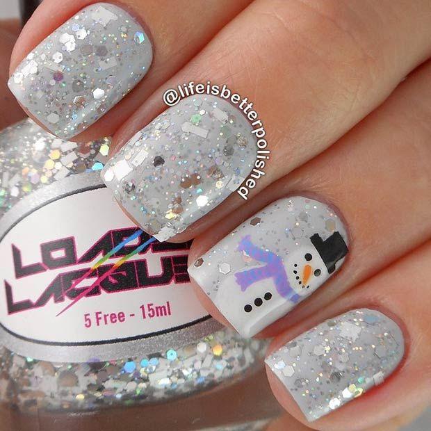cute winter-inspired nail art