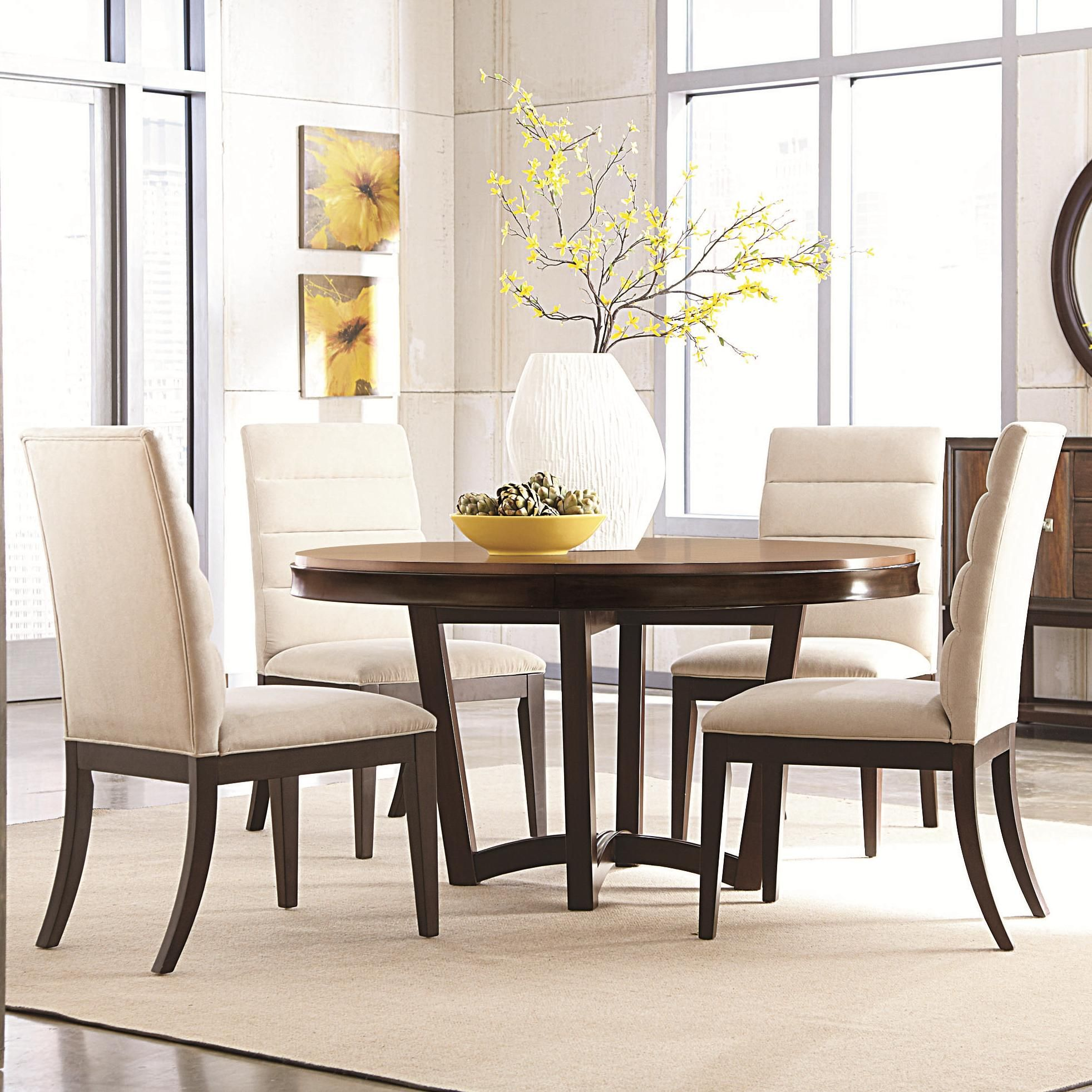 Miramar 5 Piece Dining Table with Upholstered Side Chairs by ...