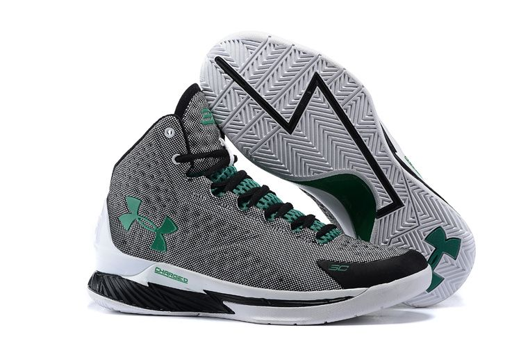 green and white under armour basketball shoes