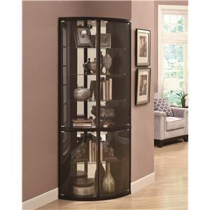Exceptional Curio Cabinets Convex Corner Gap Curio Showcase By Coaster At Lynnu0027s  Bedroom City