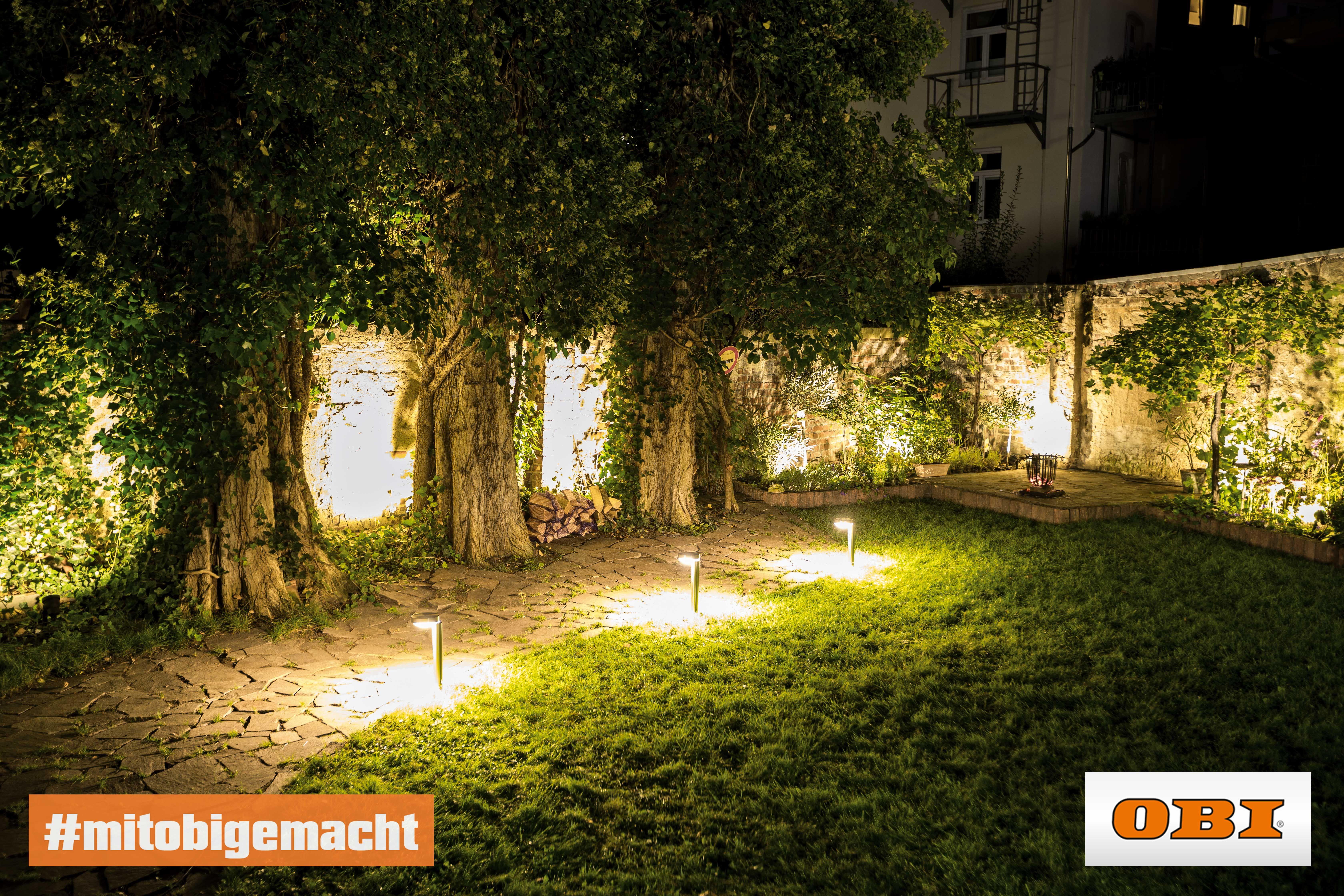 Richtige Aussenbeleuchtung Rund Ums Haus Tipps Obi Gartenbeleuchtung Aussenbeleuchtung Garten Balkon Beleuchtung
