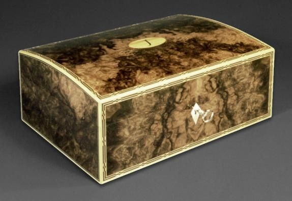 A Domed Top Jewellery Box Veneered With Burr Walnut 10 X 7 X 5 French Polished Boxes Wooden Box Designs Decorative Boxes Wooden Boxes