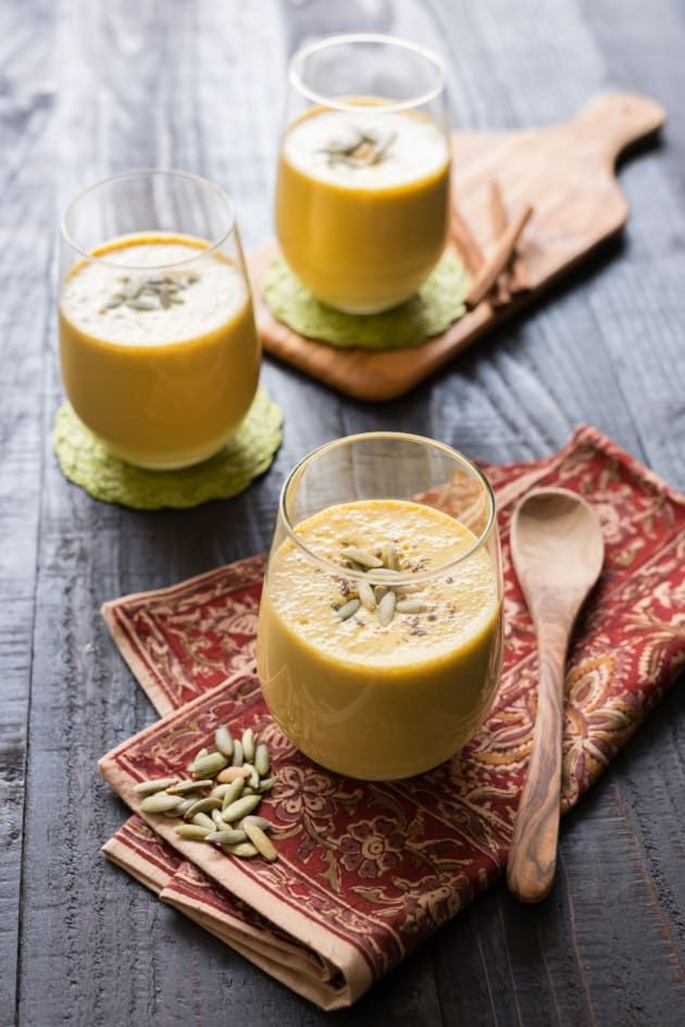 Pumpkin Lassi is packed with protein and fiber. Everything you want in a smoothie.