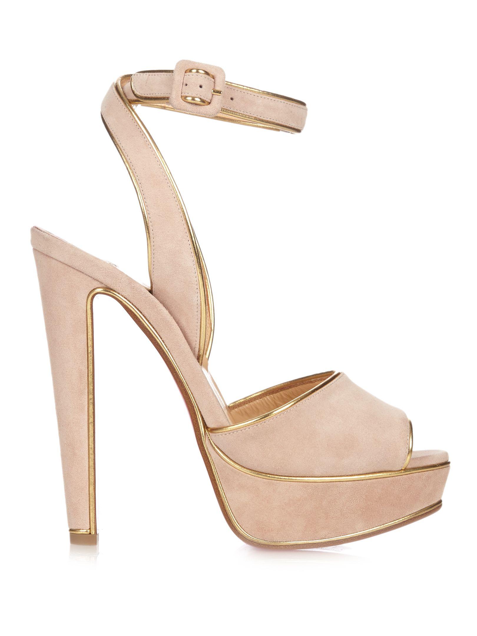 2ca0141728fa Louloudance 140mm suede platform sandals