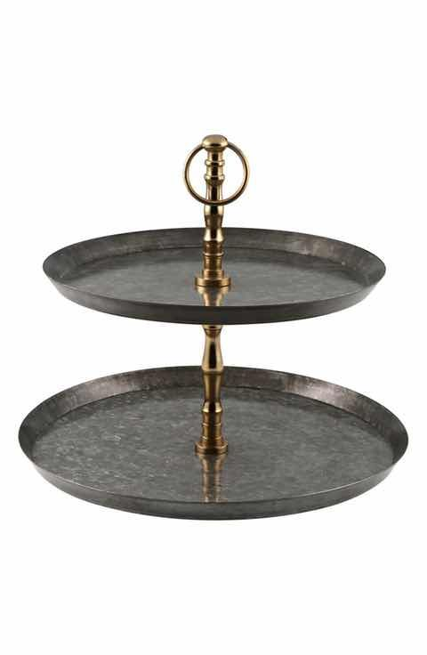 Serving Dishes Platters Cheese Boards Tiered Dessert Stand Tiered Stand Galvanized Steel