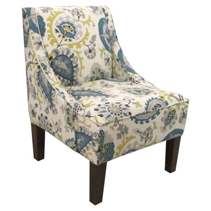 Coraline Accent Chair in Ladbroke Peacock