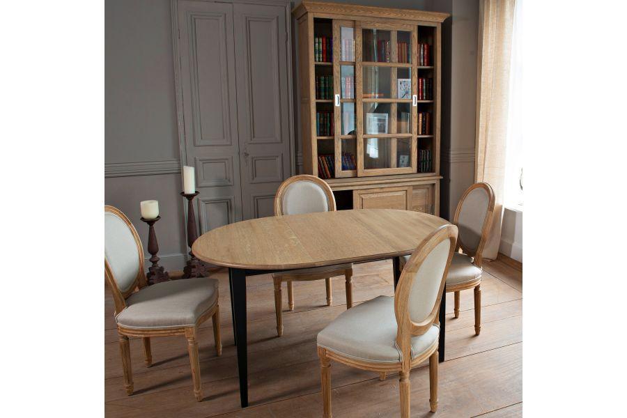 Table Extensible Ronde Plateau 105 Cm Pieds Fuseau Table Ronde Extensible Table Extensible Decoration Maison