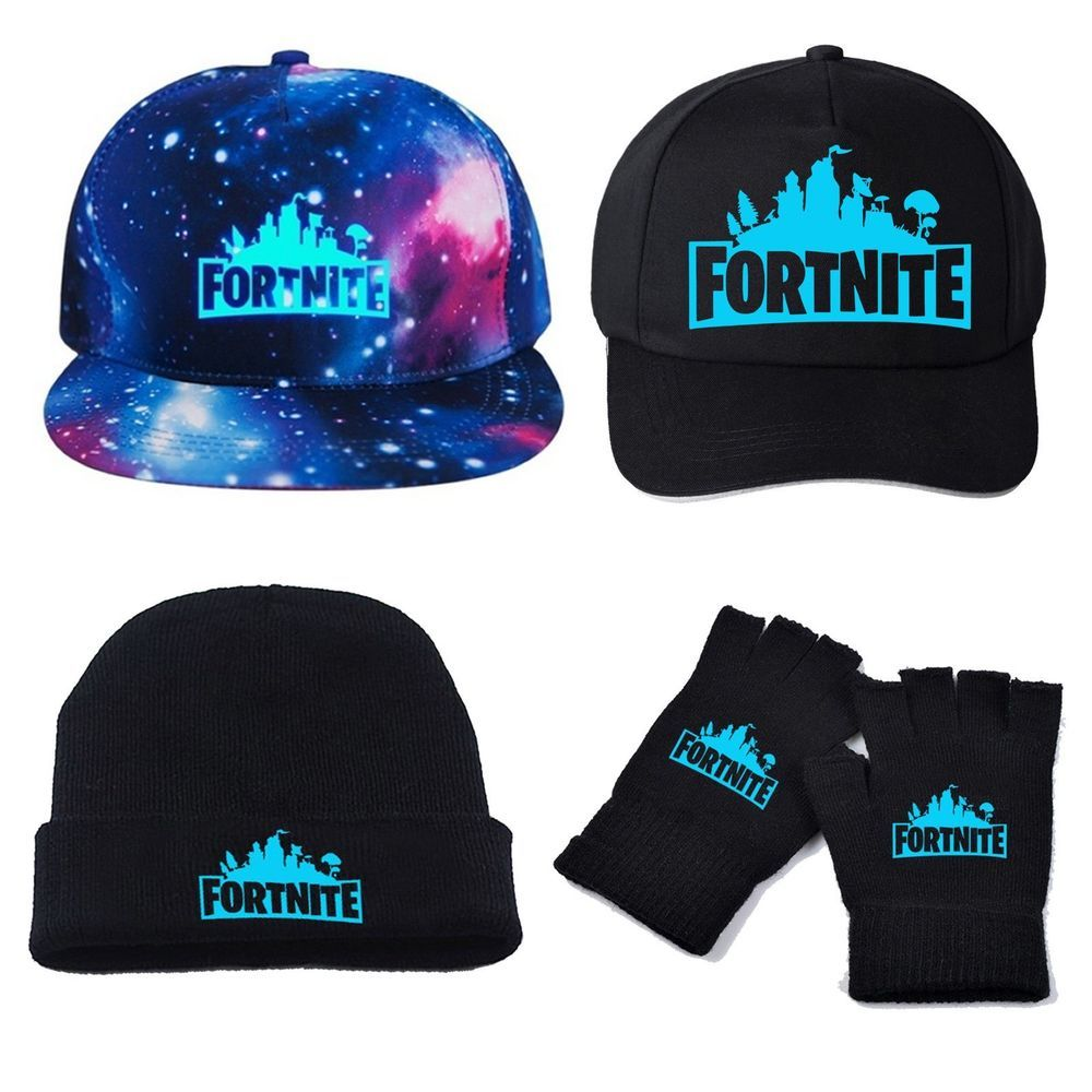 ad0a9a3638e Boy Men Fortnite Adjustable Baseball Cap Hat Gloves Glow in Dark  Accessories Set  fortnite  fortnitebattleroyale  live