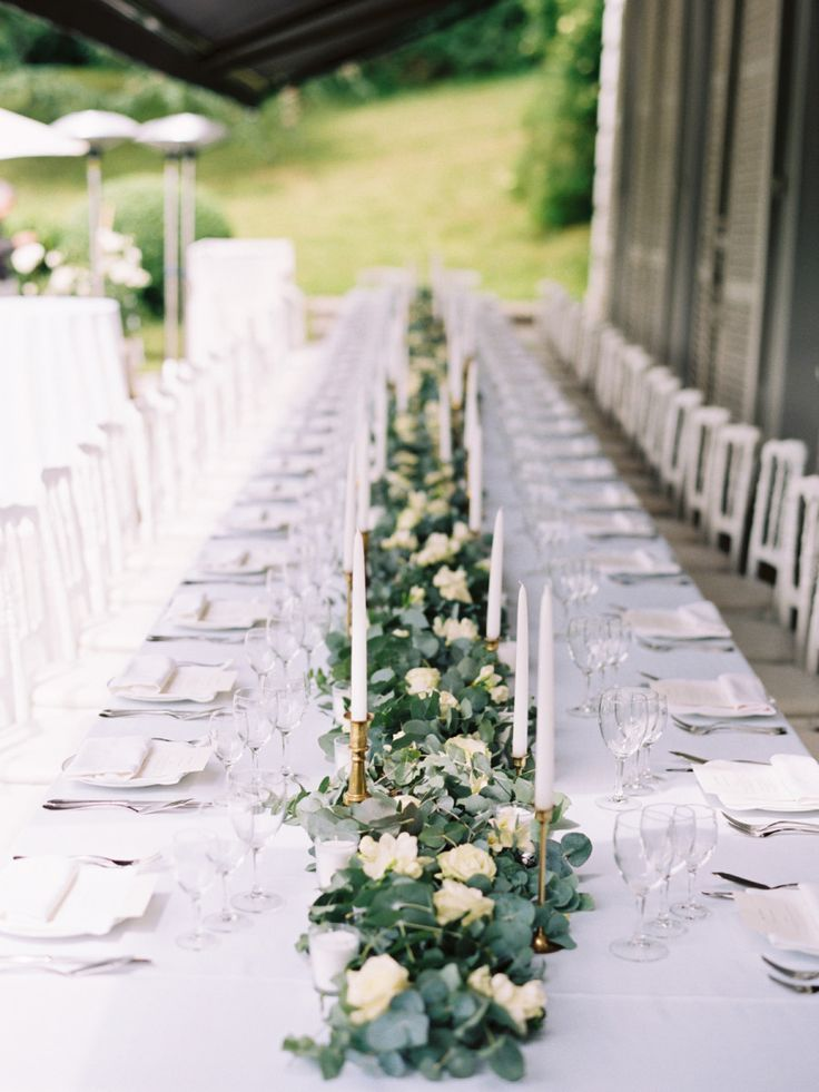 Image result for garland table centerpieces Image