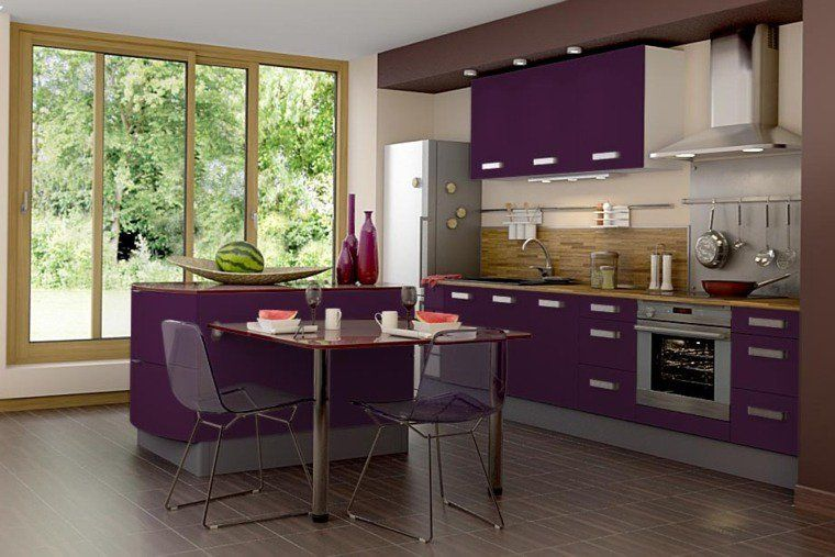 cuisine couleur aubergine inspirations violettes en 71 id es aubergine pinterest couleur. Black Bedroom Furniture Sets. Home Design Ideas