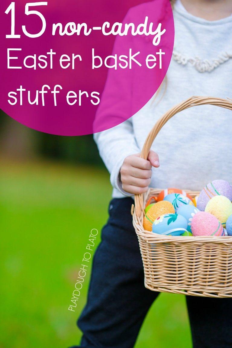15 Non Candy Easter Basket Stuffers Playdough To Plato Candy Easter Basket Easter Baskets Easter Basket Stuffer