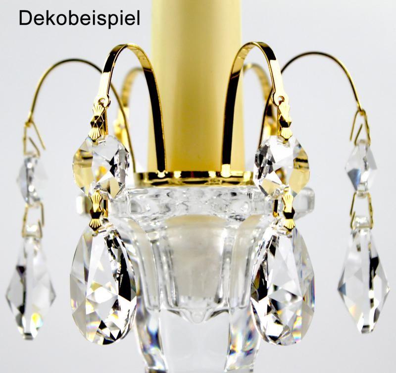 Kristall Deko aufsteck krone gold kristall tropfen 30 pbo bleikristall für
