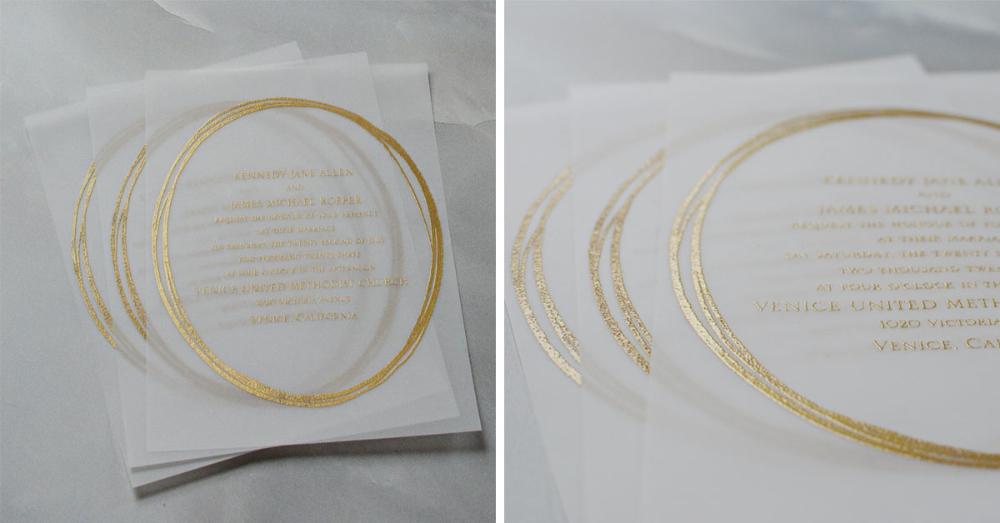 Jeweled Vellum Invitation In 2020