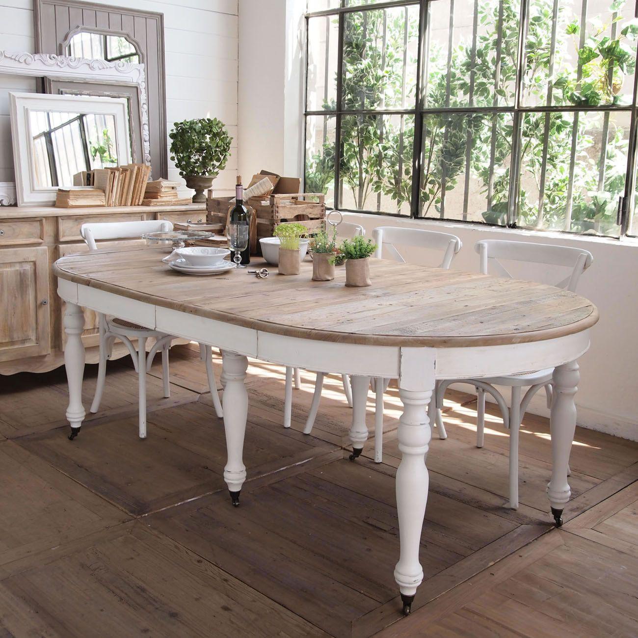 Tavolo Tondo Allungabile In Legno.Acquista Online Il Tavolo Rotondo Allungabile Fashion White Di