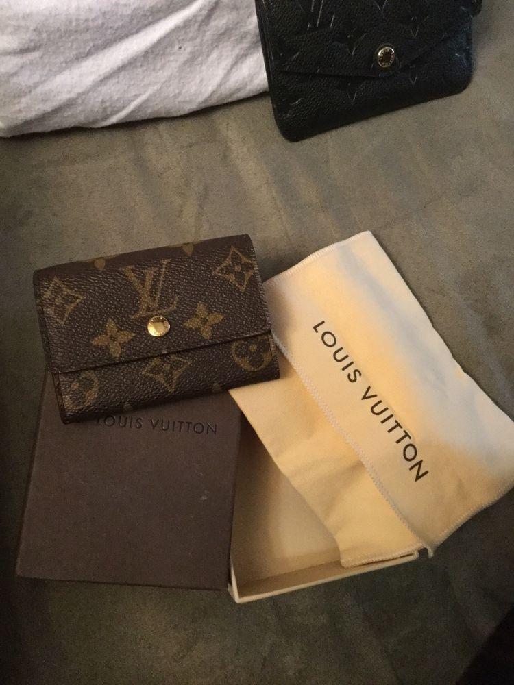032fa23a062 Louis Vuitton Monogram Porte Monnaie Plat Coin Case Purse Wallet Pouch  France | eBay