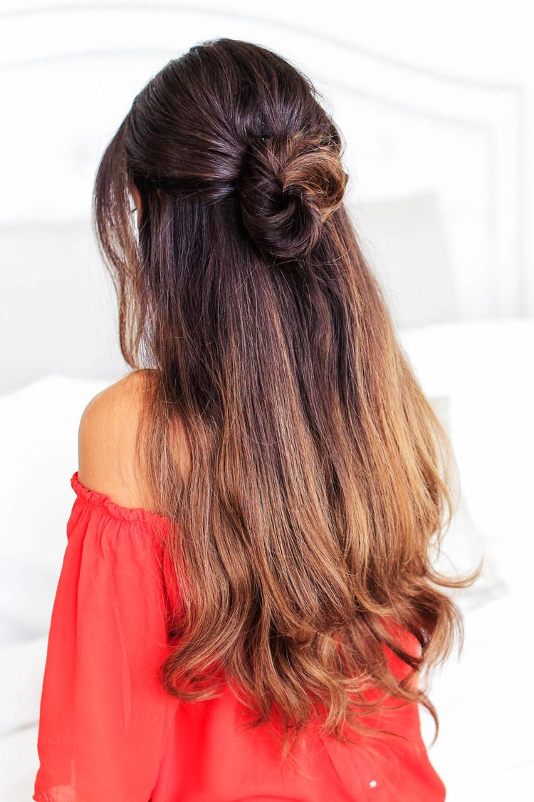 3 Lazy Hairstyles For Lazy Days With Images Half Updo Hairstyles Long Hair Styles Lazy Hairstyles