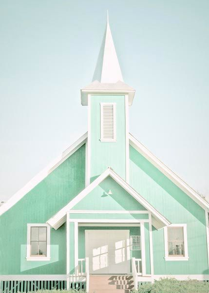Church Photography , Mint Wall Decor
