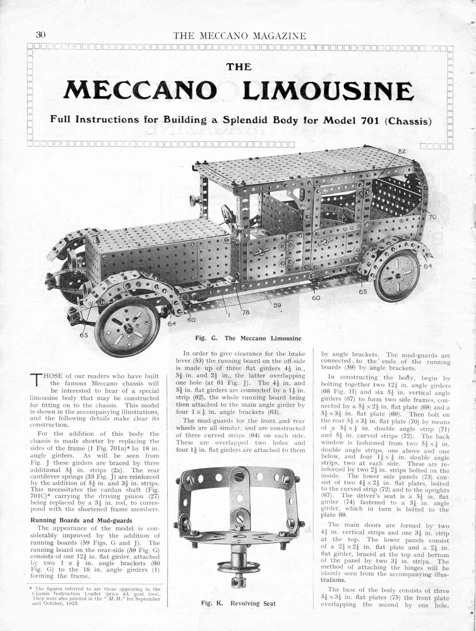 meccano limo in detail