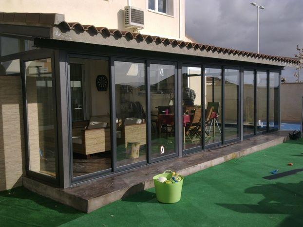 Puertas correderas de vidrio para terrazas chile buscar - Porches de aluminio y cristal ...