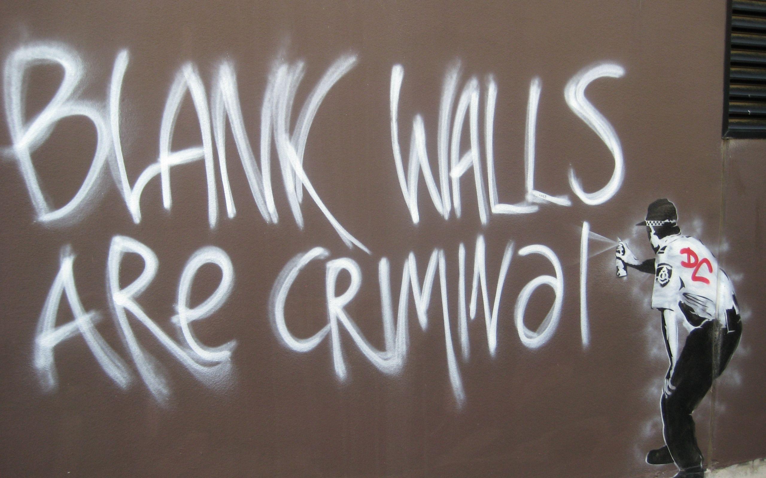 Graffiti Policeman Lawbreaker Artist Banksy Wallpapers And