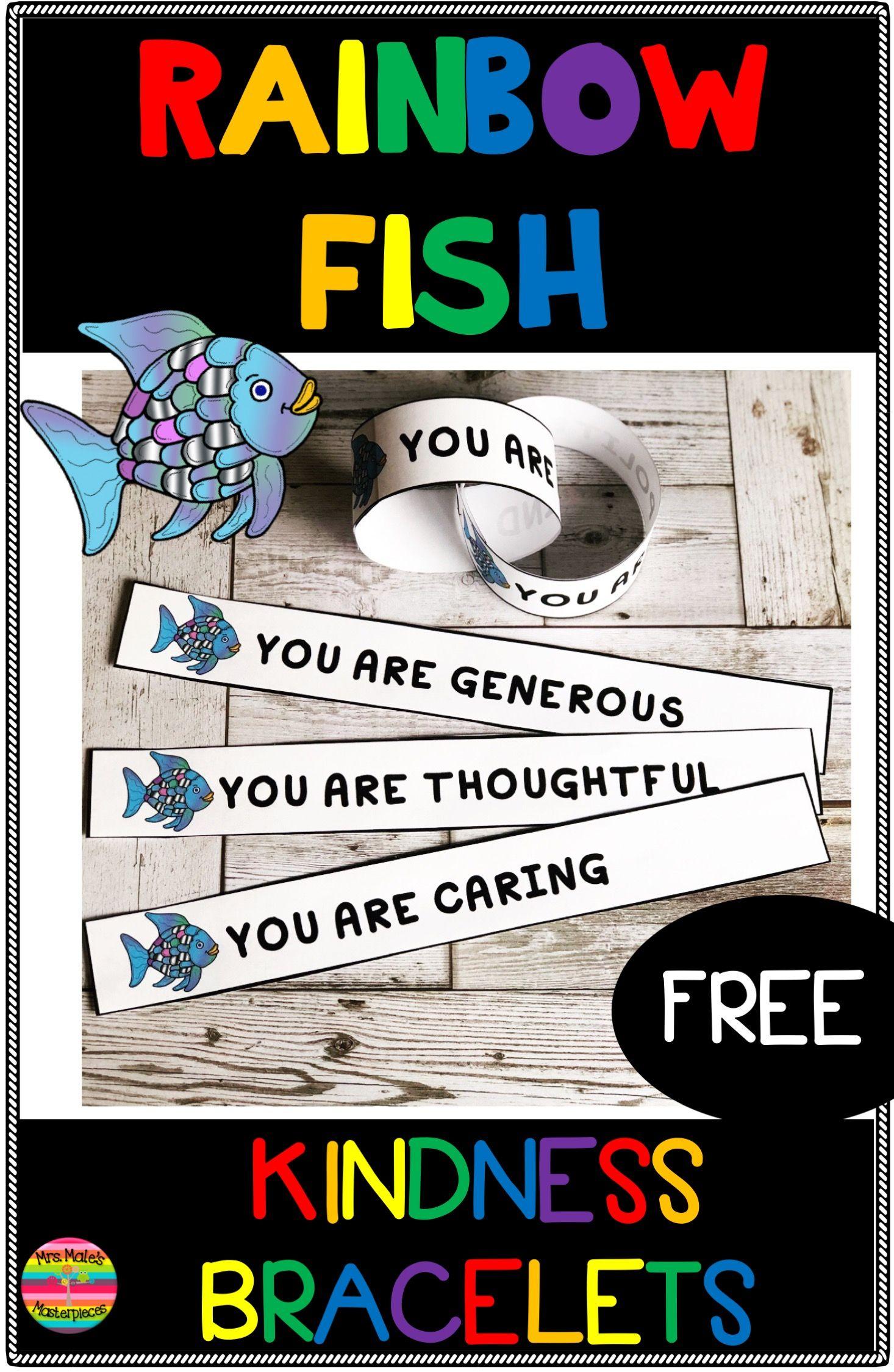 Rainbow Fish Kindness Bracelets Free