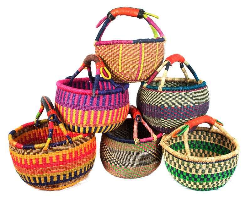 Small Bolgatanga basket. Each unique. Fabulous colours and patterns. Great for shopping and storage around the house - toys or clothes or fruit and veg.  sc 1 st  Pinterest & Small Bolgatanga basket. Each unique. Fabulous colours and patterns ...