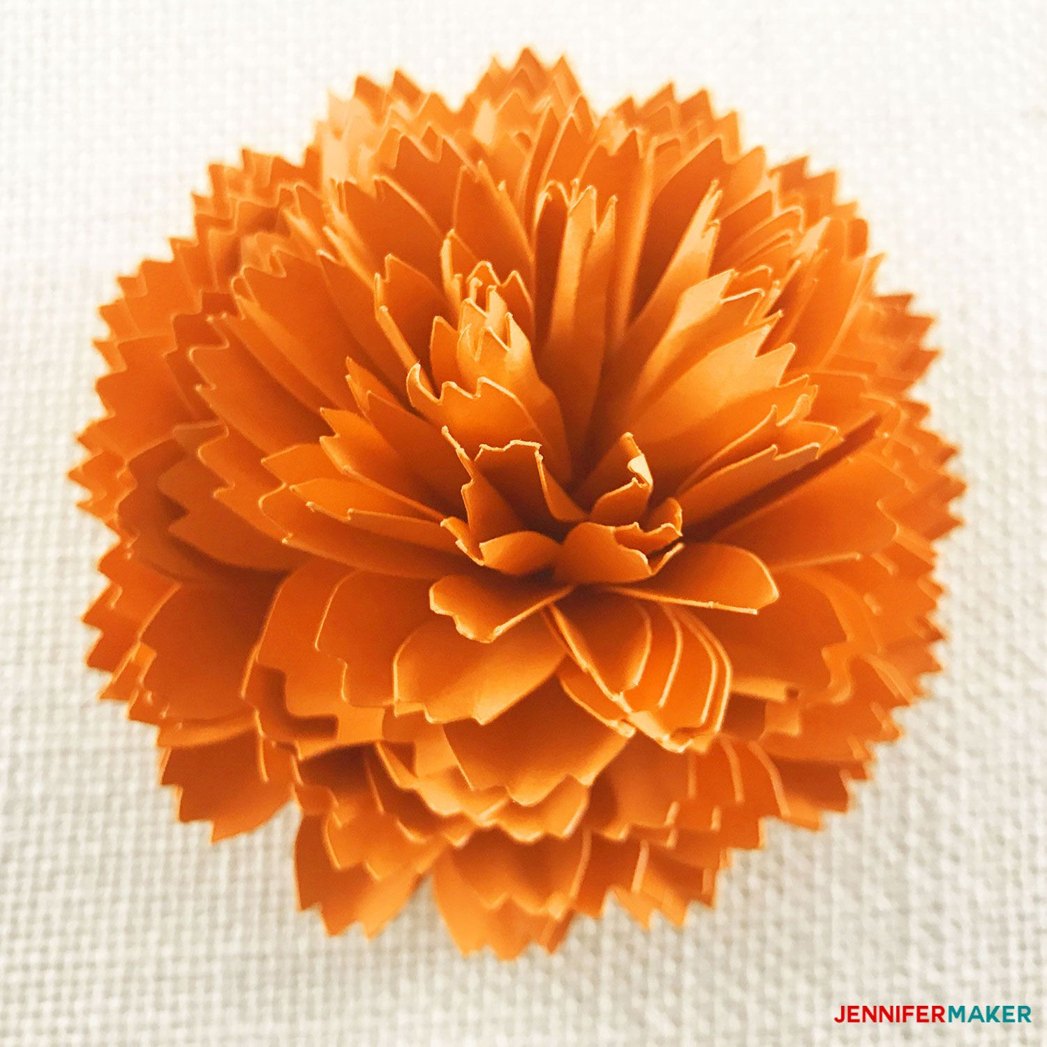 DIY Paper Marigold for Autumn and Day of the Dead Paper