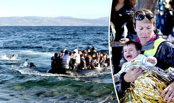 Migrants die just 20 metres from the shore as leaders say there's NO MORE ROOM for dead  A STAGGERING 1,400 migrants had to be rescued from the Aegean Sea in just one weekend in 39 separate incidents this weekend.  Officials said at least 13 people died in two separate disasters