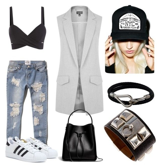 Streets by iamkathq on Polyvore featuring Topshop, Abercrombie & Fitch, adidas, 3.1 Phillip Lim, Hermès and Creep Street