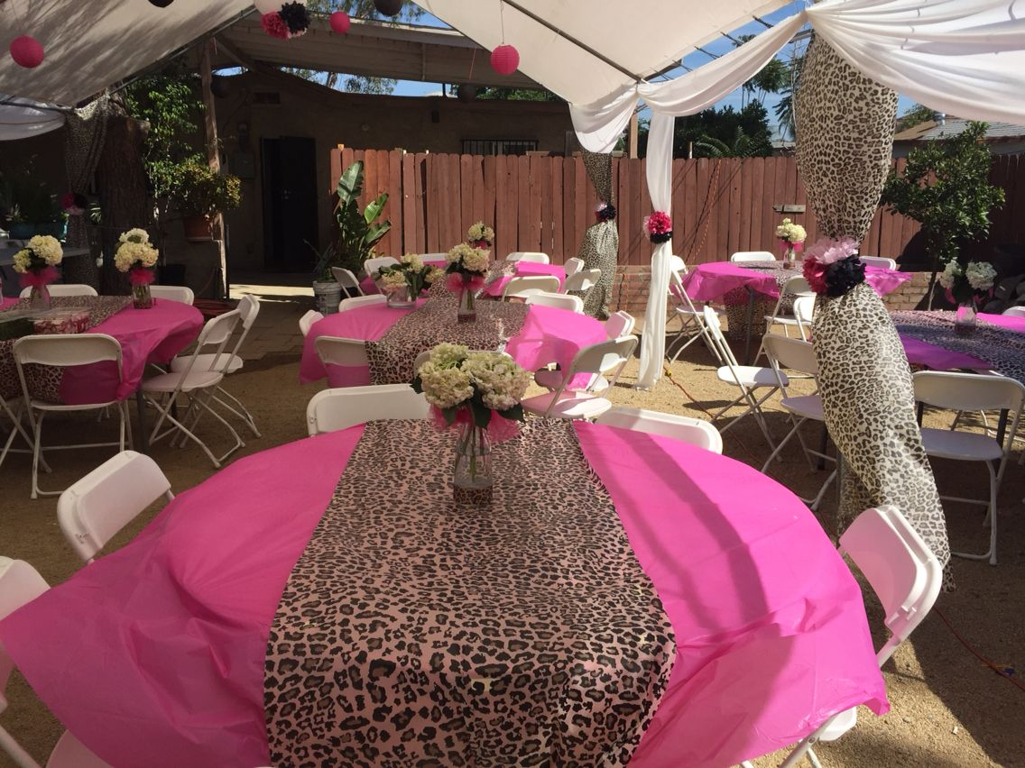 Pink and Leopard Print Baby Showerby Mikes Party Decorations