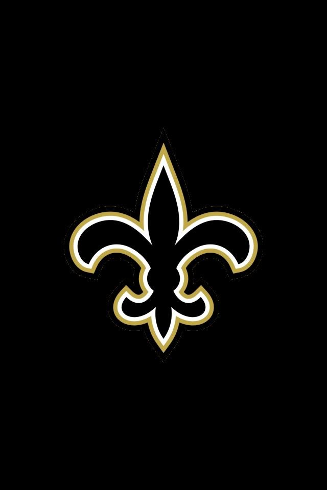 Saints football Louisiana sports logo on black background