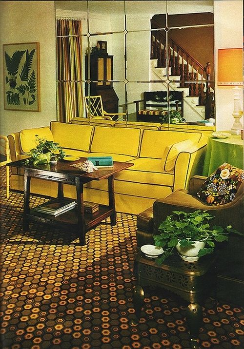 Living room desing from Good Housekeeping, October 1970.