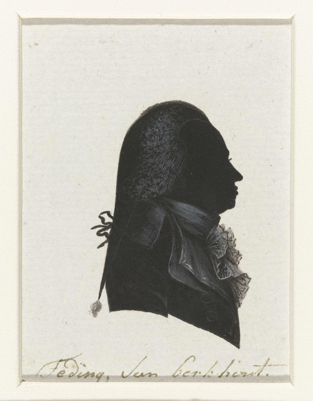 anoniem   Teding van Berkhout, possibly Hausdorff, 1796   Silhouet van borstbeeld in profiel naar rechts. Staartpruik en jabot. Opschrift; o.: Teding van Berkhout.