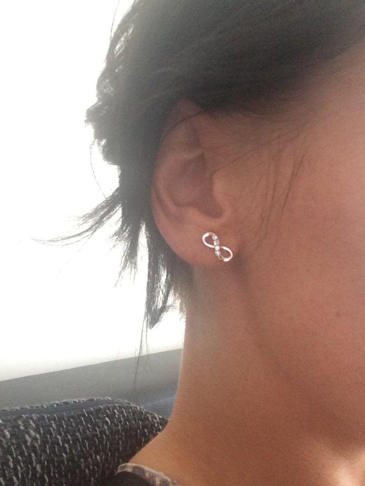 Lovely Infinity Symbol Stud Earrings Jewelry David Yurman