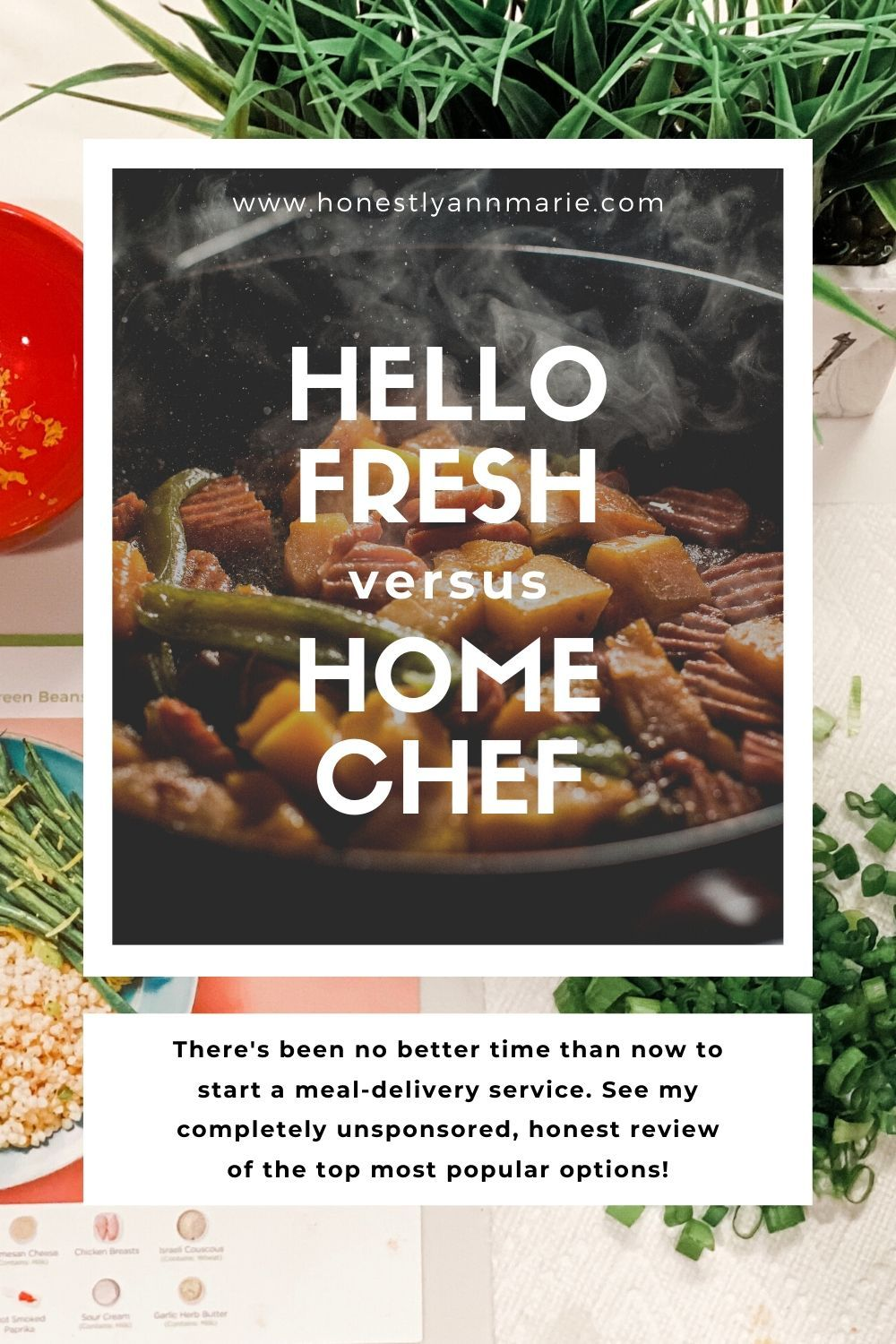 There's been no better time than now to start a meal-delivery service. See my completely unsponsored, honest review of the top most popular options: Hello Fresh and Home Chef! meal delivery comparison, home chef, hello fresh, best meal delivery, easy meals